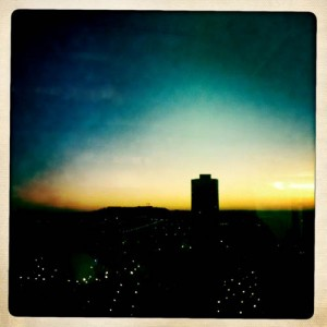 coucher de soleil à l'Hipstamatic